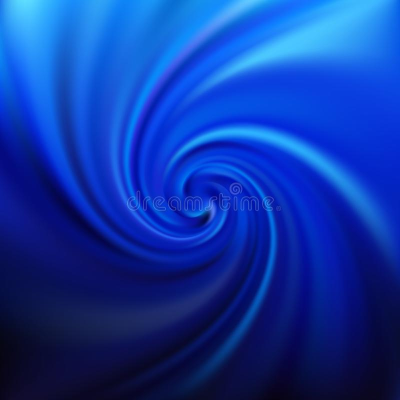 Blue swirl background. Abstract vector illustration royalty free illustration