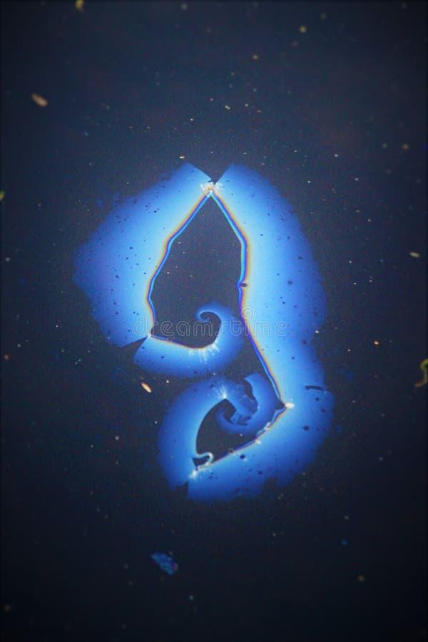 Blue Swirl stock photography