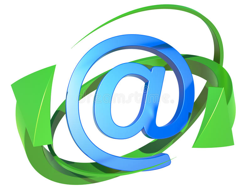 Download Blue symbol of the e-mail stock illustration. Illustration of connection - 24875137