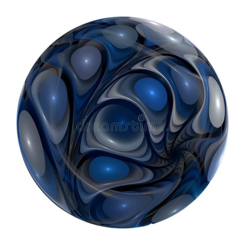 blue synad marmor royaltyfri illustrationer