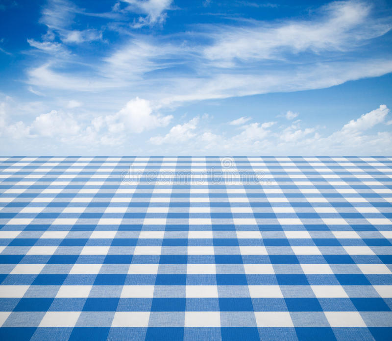 Download Blue Tablecloth Backgound With Sky Stock Image - Image: 34133935