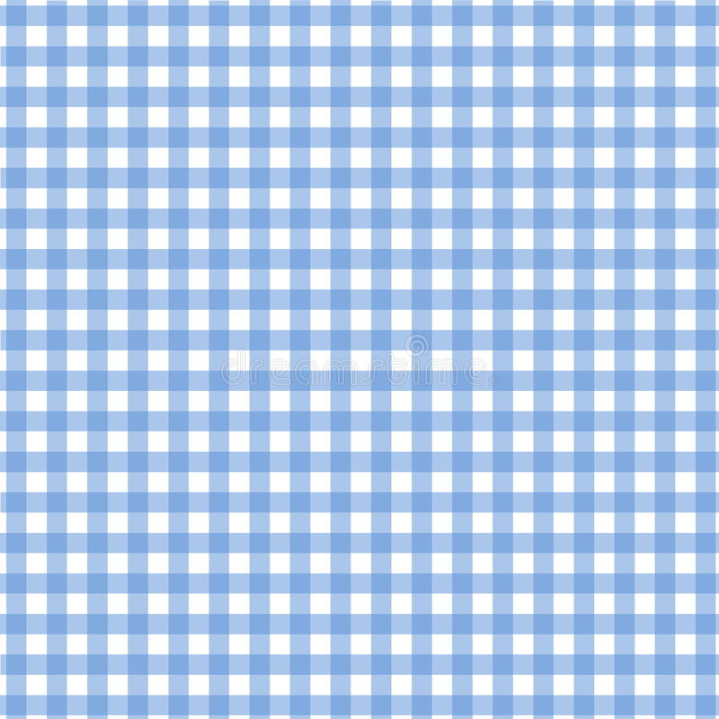 Blue tablecloth pattern royalty free illustration