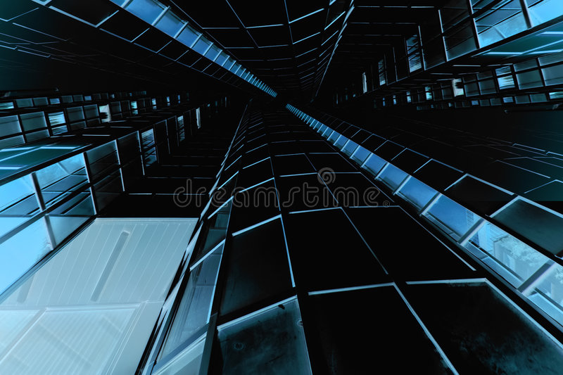 Download Blue tall structure stock photo. Image of corporate, rise - 6064250