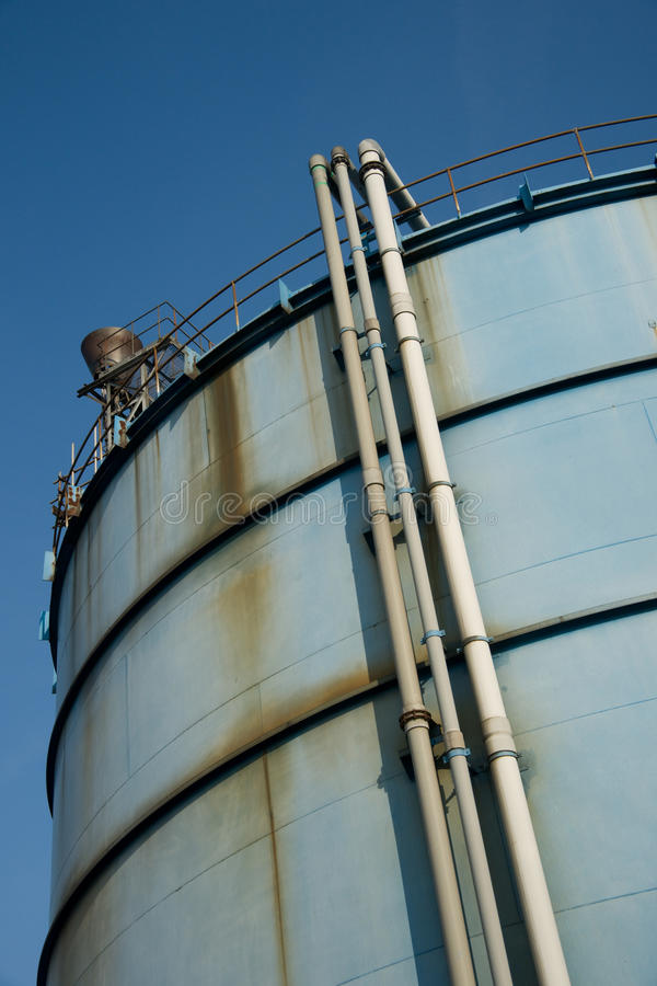 Download Blue tank stock image. Image of liquid, pipeline, vertical - 13741721