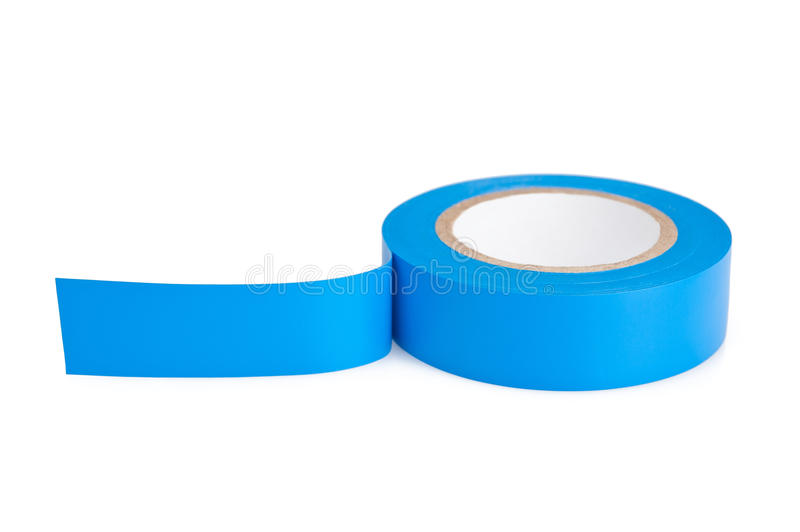 Blue tape royalty free stock images
