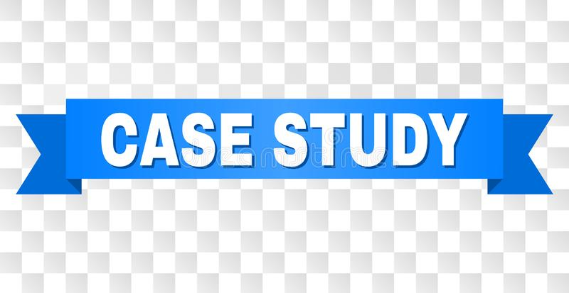 Blue Tape with CASE STUDY Caption. CASE STUDY text on a ribbon. Designed with white caption and blue tape. Vector banner with CASE STUDY tag on a transparent royalty free illustration