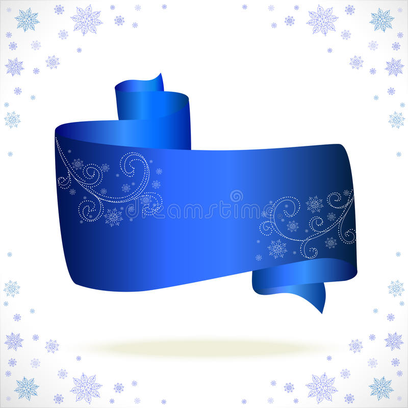 Blue Tape Cristmas On White Background Royalty Free Stock Photography