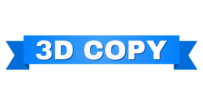 Blue Tape with 3D COPY Title. 3D COPY text on a ribbon. Designed with white title and blue tape. Vector banner with 3D COPY tag stock illustration