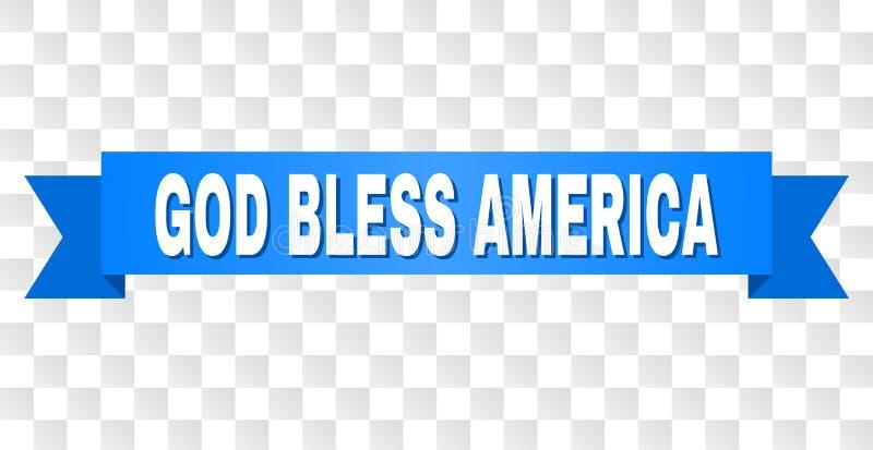 Blue Tape with GOD BLESS AMERICA Caption stock illustration