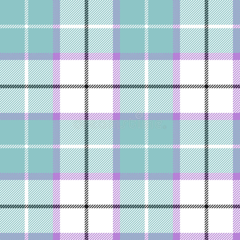 Blue tartan plaid baby color seamless pattern vector illustration
