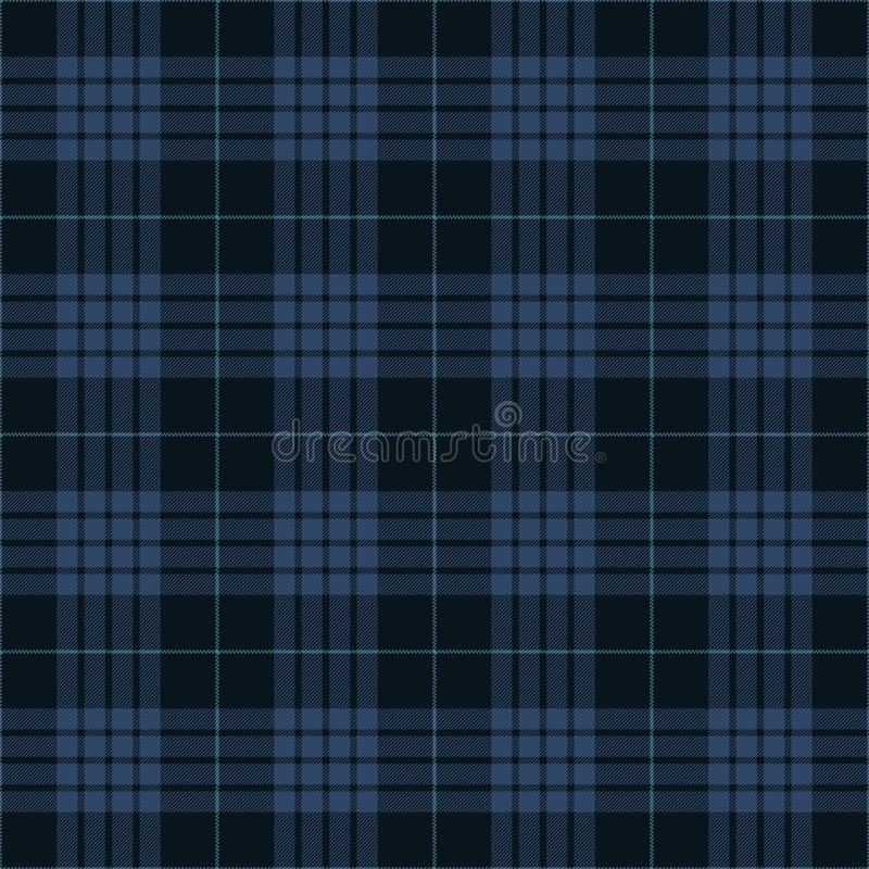 Blue Tartan Plaid Traditional Scottish Textile Pattern royalty free stock photo