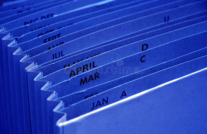 Blue tax budget file royalty free stock photography