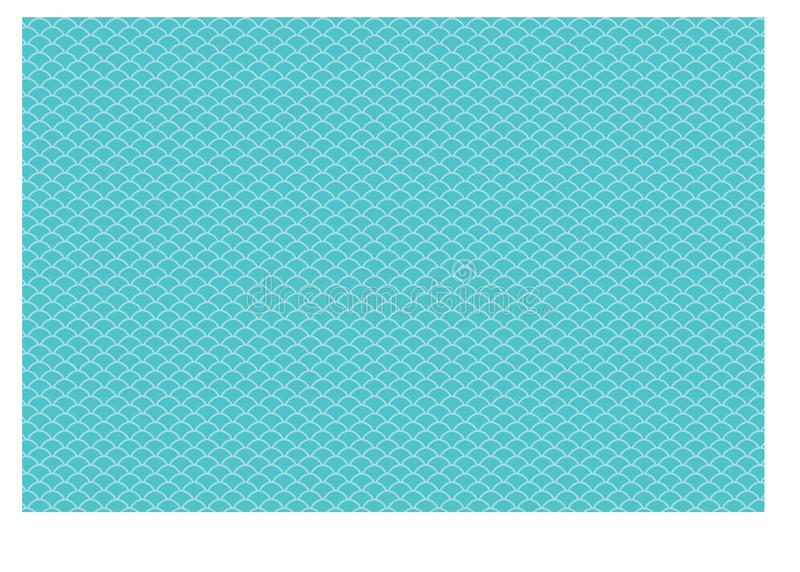 Blue-Teal Fish Scales pattern vector illustration