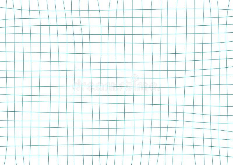Blue Teal Grid White Background royalty free illustration