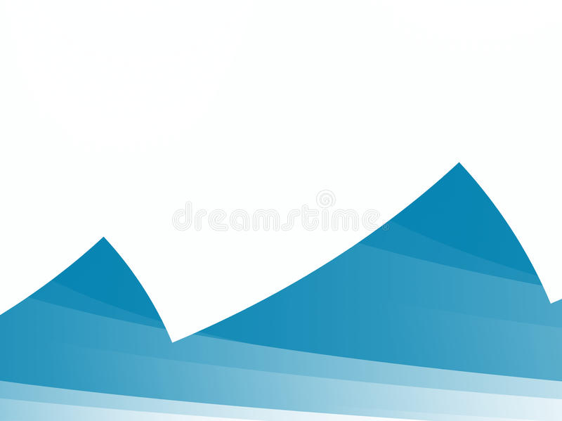 Blue / teal and white abstract fractal with irregular teeth with stripes resembling hills or mountains. Negative space for text. For travel or holiday themes vector illustration