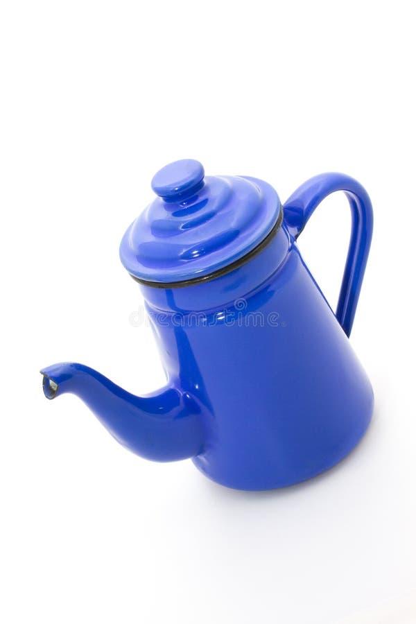 Blue teapot stock photo