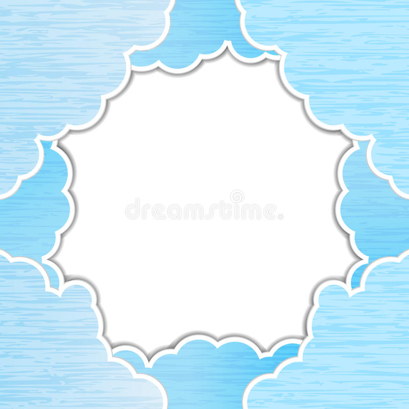 Download Blue teared paper sky stock vector. Image of conceptual - 24841247