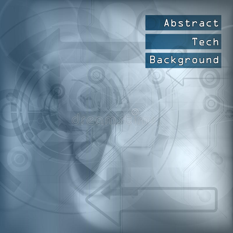 Blue Tech Background. Abstract tech background. Vector elements. Version with sample text vector illustration