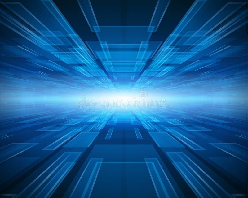 Download Blue technology background stock illustration. Illustration of bright - 20636978