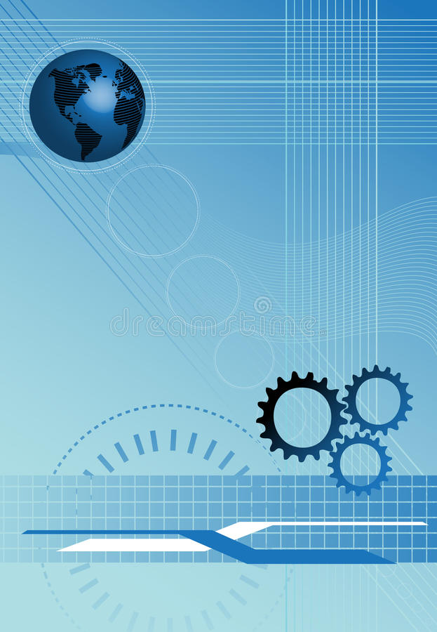 Blue technology background royalty free stock photography
