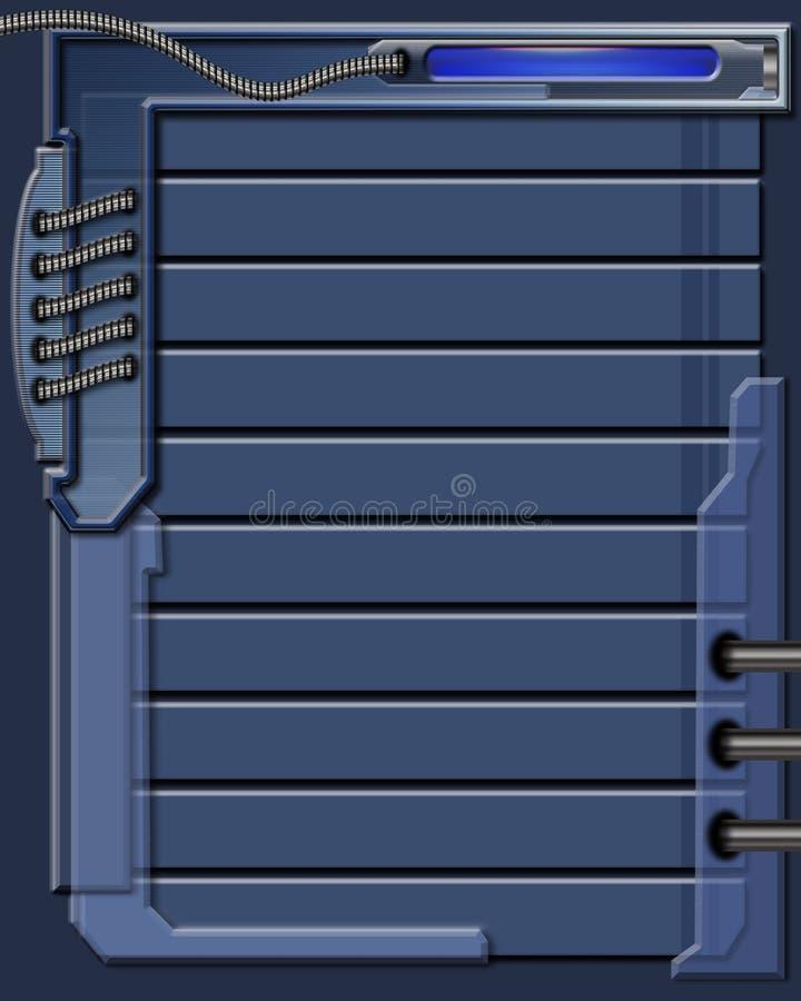 Blue technology background stock photo