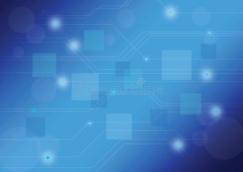 Blue technology background stock illustration