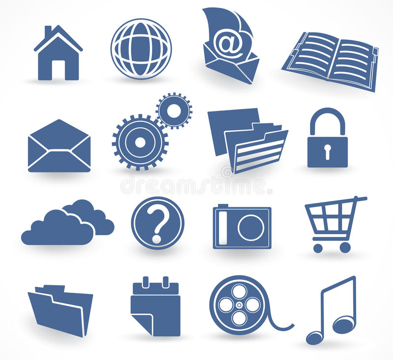 Download Blue technology icon set stock vector. Illustration of mail - 12414664