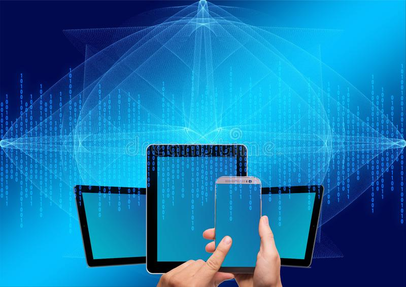 Blue, Technology, Light, Display Device Free Public Domain Cc0 Image
