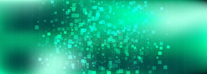 Blue Technology Pattern. Big Data Analytics. Glow vector illustration