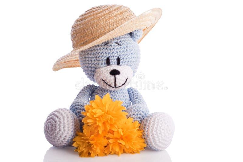 Blue teddy royalty free stock photo