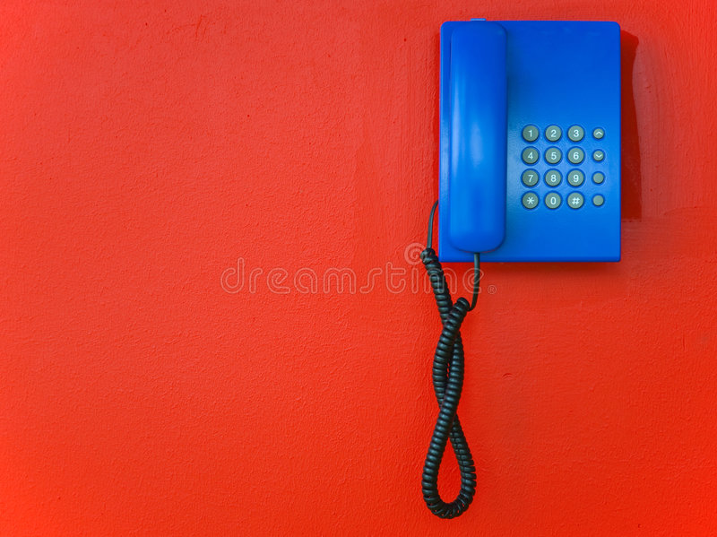 Blue telephone stock images