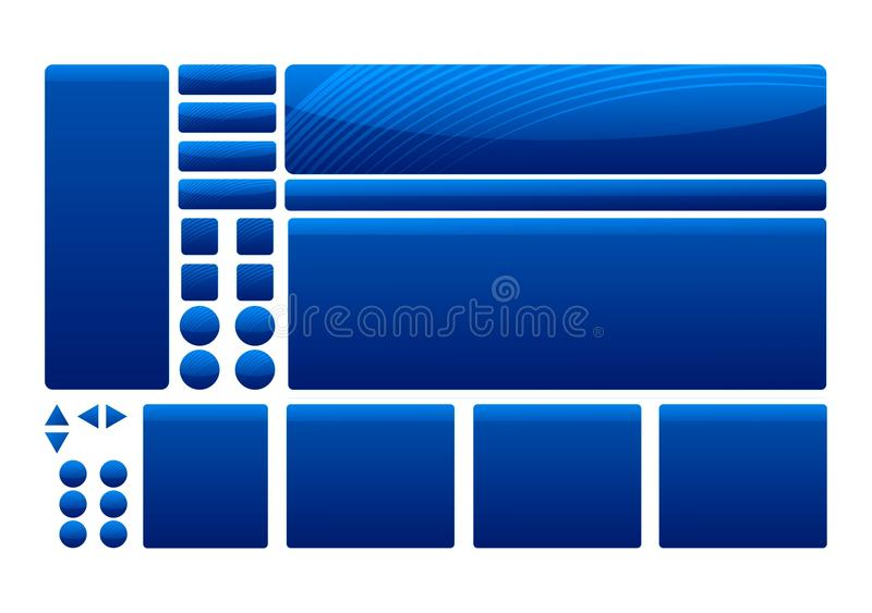 Blue Template Elements Royalty Free Stock Photography