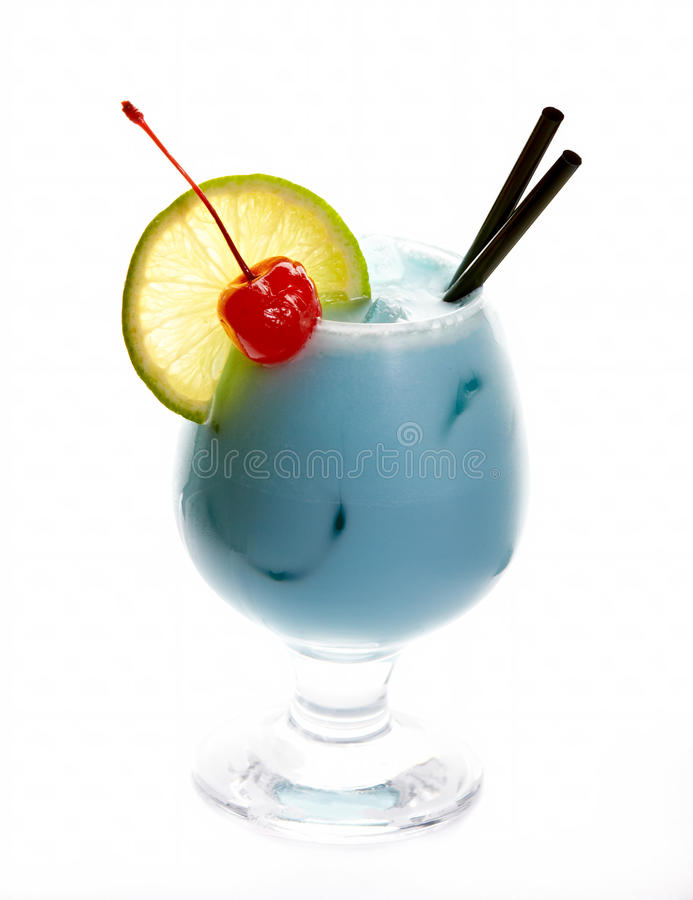 Blue temptation cocktail royalty free stock photography