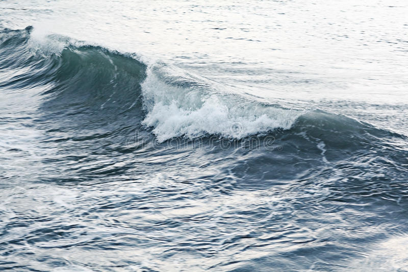 Blue texture of storm sea. Waves stock photo