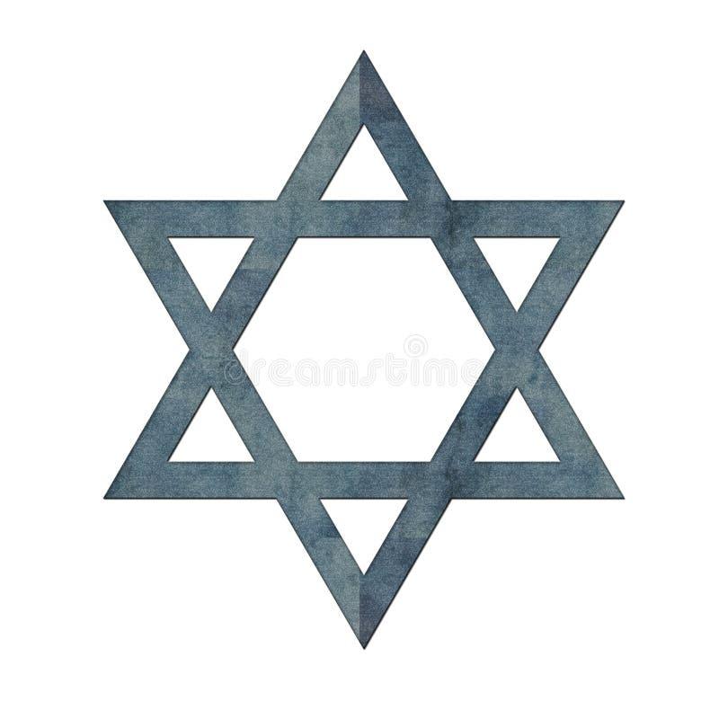 Download Blue Textured Star Of David Stock Illustration - Illustration of graphic, hanukkah: 8145735