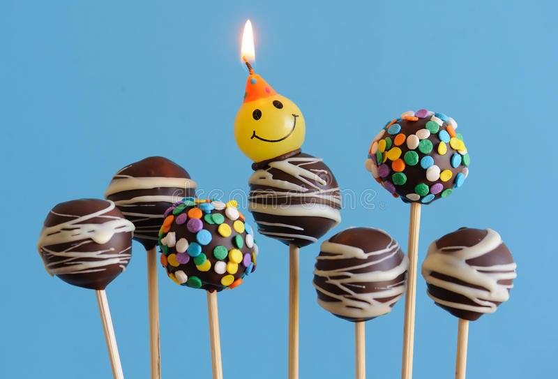 Download Blue Theme Chocolate Cake Pops Stock Photo - Image: 25227950