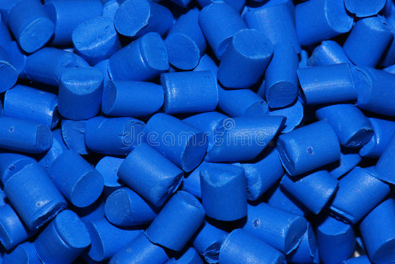 Blue thermoplastic resin royalty free stock images