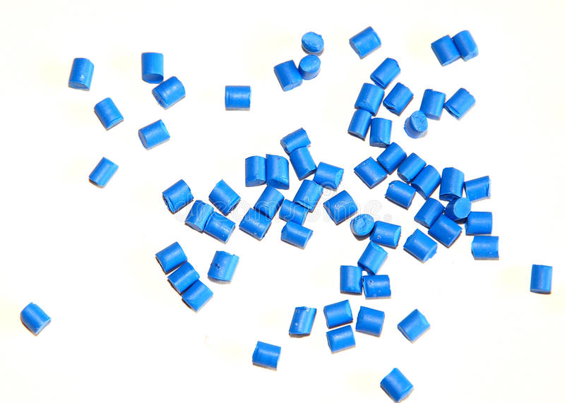 Blue thermoplastic resin royalty free stock photos