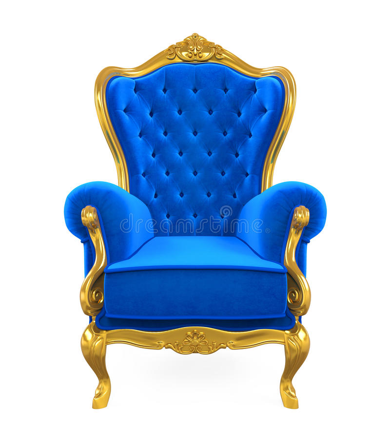 Free Blue Throne Chair Isolated Royalty Free Stock Photo - 96238075