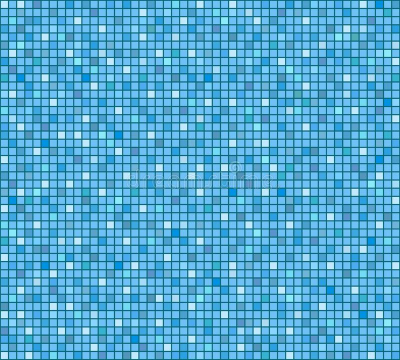 Blue tile bathroom or pool mosaic background, stock vector illus. Tration, eps 10 stock illustration