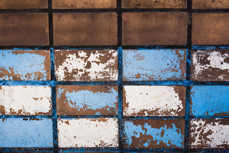 Blue tiled wall stock images