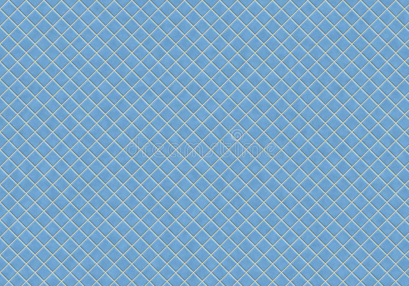 Blue tiles. Clean blue kitchen or bathroom tiles that tile seamless in all directions royalty free illustration