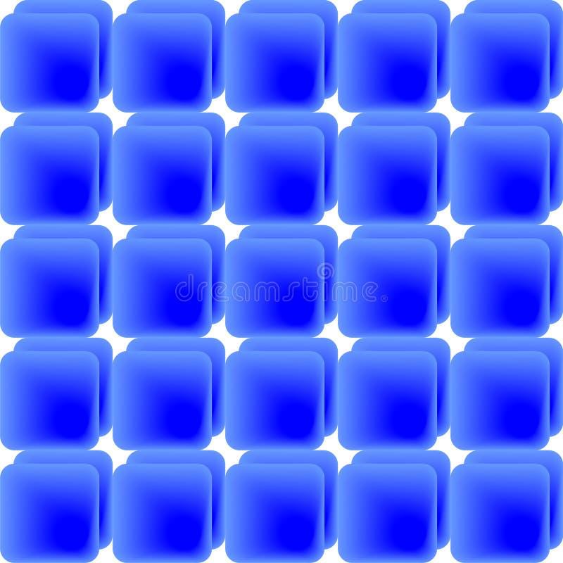 Blue tiles. Pattern of blue gradient tiles, background image stock illustration