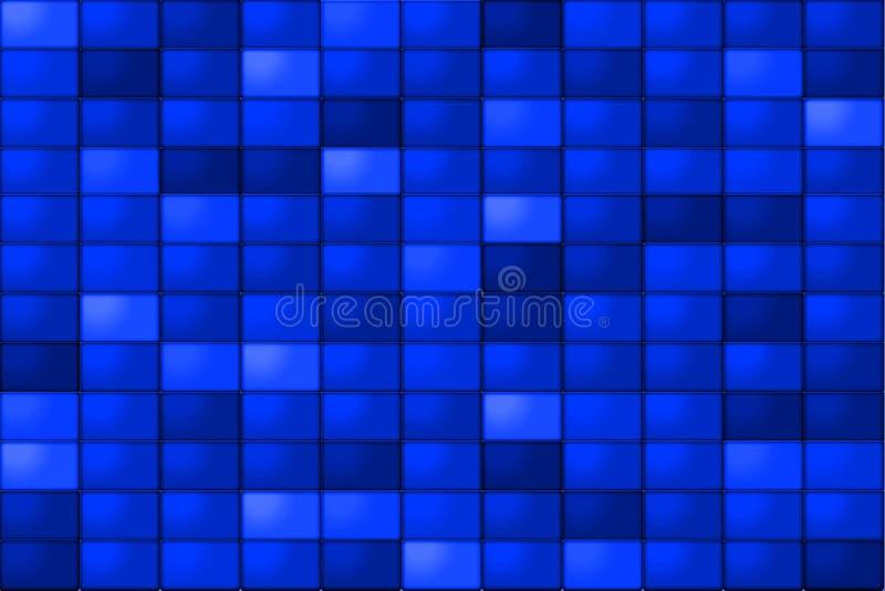 Blue Tiles. A monochromatic background of blue tiles vector illustration