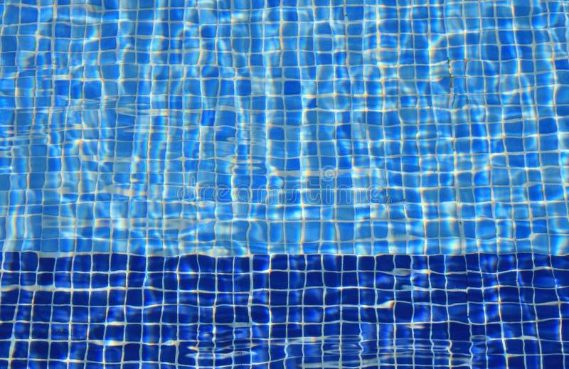 Blue tiles stock image