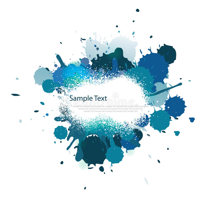 Blue tone color splash vector illustration