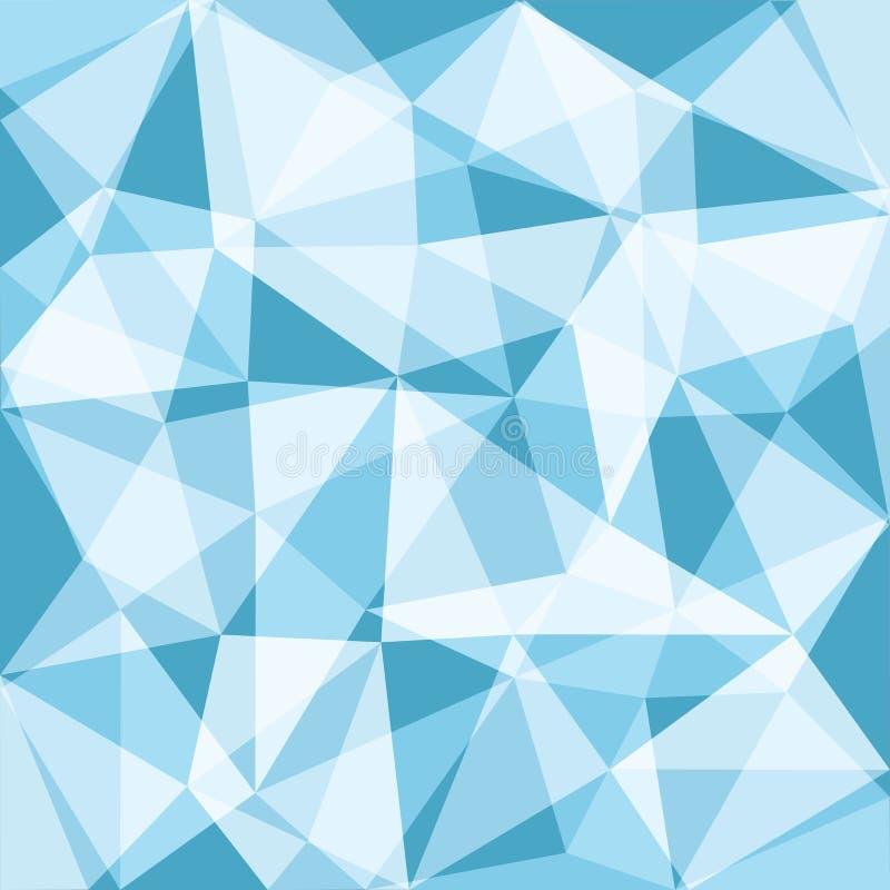 Blue tone low polygon overlay. Background, illustration vector illustration