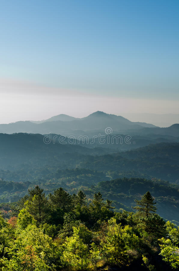 Download Blue Tone Mountain Vertical Stock Photo - Image: 26810676