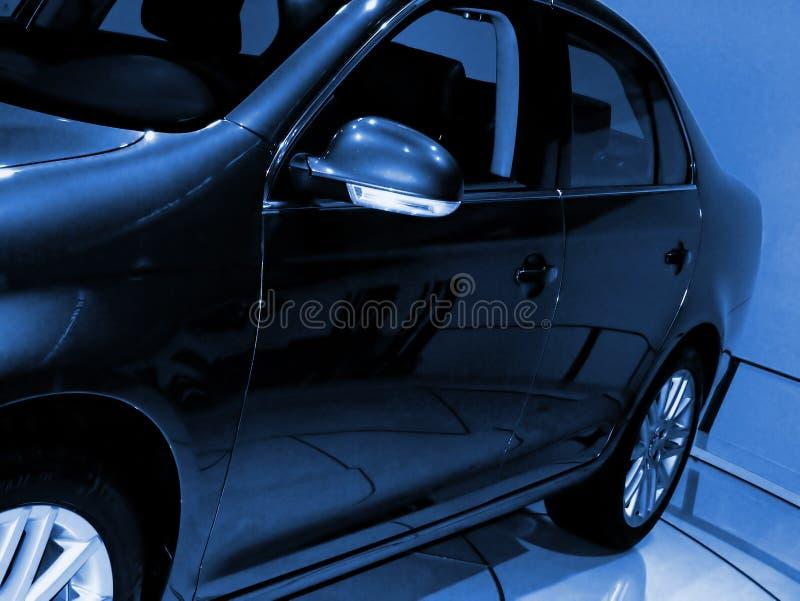 Blue tone sedan. stock photography