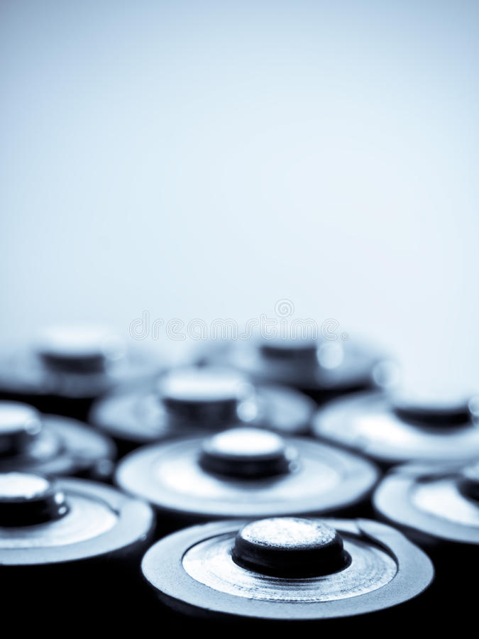 Download Blue toned batteries stock image. Image of collection - 11036381